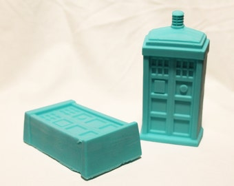 Handmade Doctor Who Tardis Soap