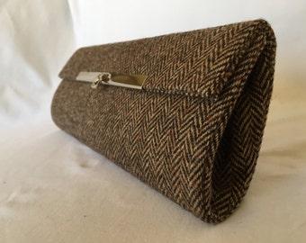 cae94591462eb Elegante handgefertigte braun Tweed Tasche hergestellt aus traditionellen  britischen Stoff
