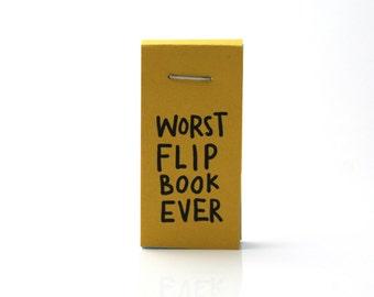 sloth flip book, funny flip book, funny sloths, worst flipbook ever, funny gift, funny stocking stuffer, paper art, book, comics