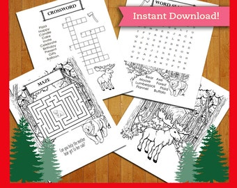 Lumberjack Printable Coloring Page And Activity Sheets Pack