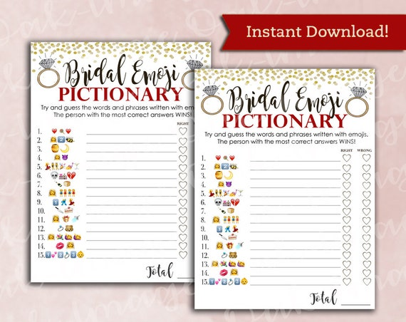 photo relating to Wedding Emoji Pictionary Free Printable called Bridal Shower Video game Pictionary - EMOJI Pictionary - Cranberry Purple Gold - Instantaneous Printable Electronic Down load - do it yourself Bridal Shower Printables