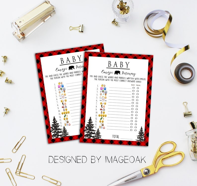 Buffalo Plaid Woodland Instant Printable Digital Download Winter Christmas Activities /& Games Lumberjack Baby Shower Game Bundle Pack