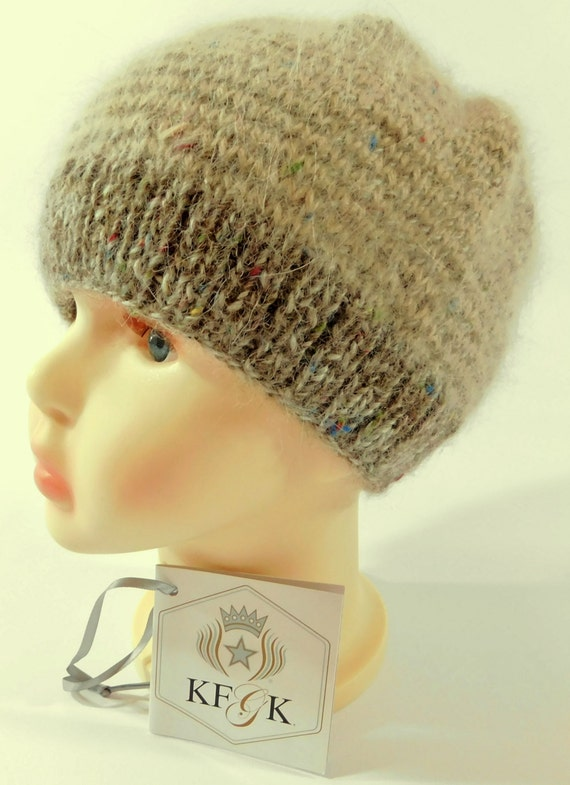 a7db9fd54f4 Hand Knitted Unisex Winter Hat Baby Alpaca and Angora