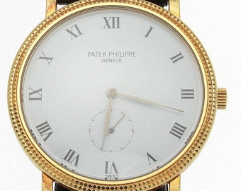 4e2dda291cd Patek Philippe 18k Yellow Gold Calatrava 3919