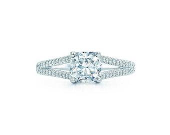 624c3fe05 Authentic Tiffany & Co. Platinum 1.31 tcw. Diamond Lucida with Diamond Band