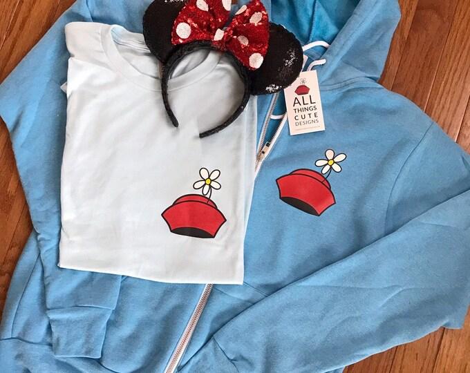 Minnie Flower Cap / Adult Unisex Tee / Full Zip Hoodie