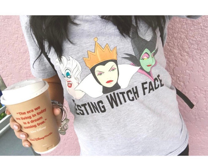 Resting Witch Face Adult Tee / Ready to Ship