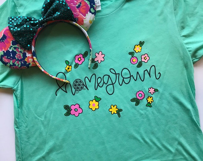 Homegrown / Epcot / Springtime / Flower and Garden / Unisex Tee / Ladies Tank