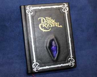 The Dark Crystal Leather Bound Book - Skeksis and Gelfling Leatherbound Novelization Book Replica (Inspired by The Dark Crystal)