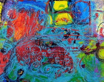 Odyssey, Original Artwork 48 x 24 Modern Abstract Painting By Martha Brito