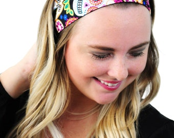 Sugar Skulls and Flowers, Day of the Dead Headband, Fashion Headband, Hair Accessories by Simply Martha