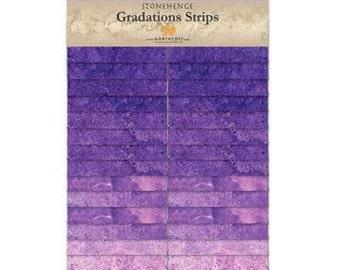 Northcott Gradations Stonehenge Strips - Amethyst 2 1/2 in strips