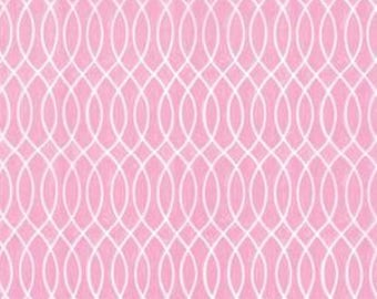 Moda Hugaboo Twirly Pink cotton fabric