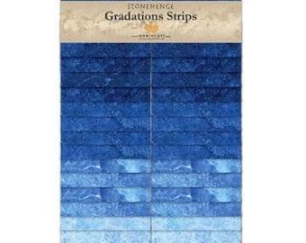 Northcott Gradations Stonehenge Strips - Indigo 2 1/2 in strips