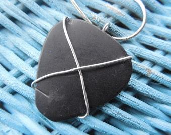 Worn guitar pick pendant