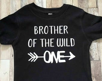 Brother of the Wild One - Baby Bodysuit Kid Shirt - Tribal Shirt