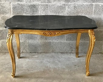 Baroque Coffee Table Black Marble Table French Table Rococo Table Baroque Table French Furniture Table Antique Furniture Gold Coffee Table