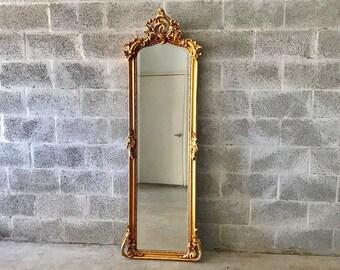 "Baroque Mirror Antique Mirror Rococo Gold Leaf 70"" Tall French Mirror Floor Mirror Interior Design *3 Available*"