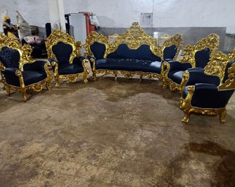 Baroque Sofa Throne French Chair *6 Piece Available* French Settee Vintage Furniture Antique Furniture Rococo Interior Design Vintage Chair