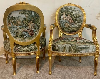 Vintage Chair French Chair Vintage Furniture Interior Designer *2 Chairs Available* Baroque Furniture Rococo Vintage Sofa French Settee