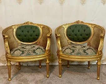 Vintage Chair French Chair Vintage Furniture Corbeille Interior Designer *2 Available* Baroque Furniture Rococo Vintage Sofa French Chair