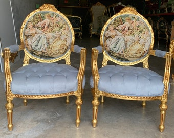 SOLD* Vintage Chair French Chair Vintage Furniture Interior Designer *2 Chairs Available Baroque Furniture Rococo Fully Refinished