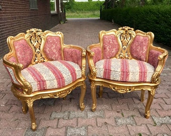 French Chairs French Marquise *3 Piece Set Available* Corbeille Chair French Furniture Vintage Chair Baroque Furniture Rococo Chair