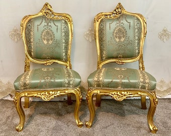Vintage Chair French Chair Vintage Furniture Settee Interior Designer 2 Chairs Available Baroque Furniture Rococo Vintage Sofa French Settee