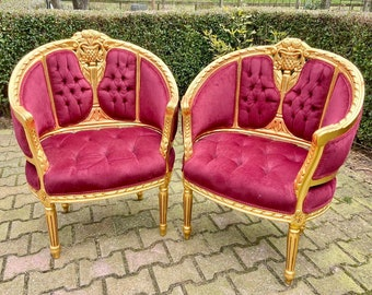 Vintage Chair French Chair Vintage Furniture Interior Designer *2 Chairs Available* Baroque Furniture Rococo Corbeille Chairs