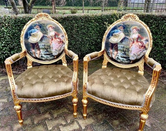 Vintage Chair French Chair Vintage Furniture Interior Designer *2 Chairs Available) Baroque Furniture Rococo Fully Refinished Reupholstered