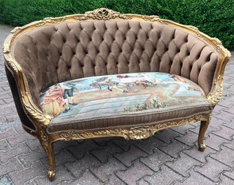 French Settee French Sofa French Furniture Vintage Sofa Baroque Furniture Rococo Settee French Settee New Uphostery Interior Design