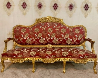 Vintage Chair French Chair Vintage Furniture Settee Interior Designer *6 Piece Available Baroque Furniture Rococo Vintage Sofa French Settee