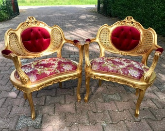 French Chair French Vintage Furniture Tufted Chair French Tufted Refinish New Fabric Interior Design