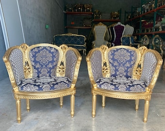 French Chairs French Tufted Chair Vintage Furniture French Chair Vintage Chair Interior Design Corbeille Chair Baroque Furniture Rococo