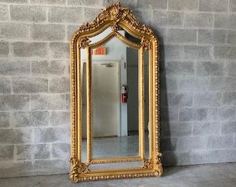 Baroque Mirror 6.7 Feet Tall Floor Mirror Antique Mirror Rococo Gold Vintage Mirror French Mirror Floor Mirror Interior Design