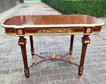 French Center Table Vintage Table French Antique Refinished Brass Baroque table Rococo Table Interior Design