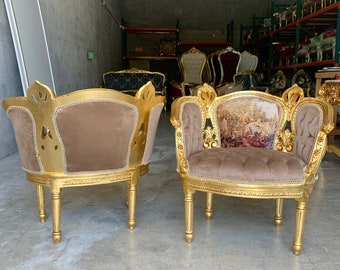 SOLD* French Chairs French Tufted Chair Vintage Furniture French Chair Vintage Chair Interior Design Corbeille Chair Baroque Furniture