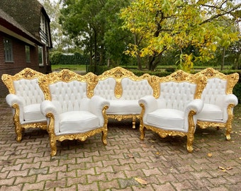 Vintage Chair French Chair Vintage Furniture *5 Pieces Available* Settee Baroque Furniture Rococo Vintage Sofa French Settee Interior Design