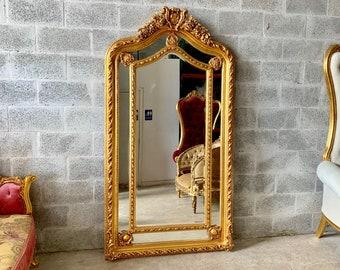 Baroque Mirror 6 1/2 Feet Tall Floor Mirror Antique Mirror Rococo Gold Vintage Mirror French Mirror Floor Mirror Interior Design