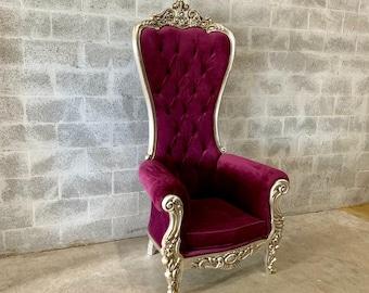 Purple Throne Chair Purple Velvet Chair 1 Availabl French Chair Throne Purple Velvet Chair Tufted Silver Throne Chair Rococo Interior Design
