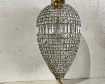 """French Chandelier Vintage 20""""H x 13""""W Vintage Furniture FULLY Rewired for USA (2 Available) Antique Chandelier"""