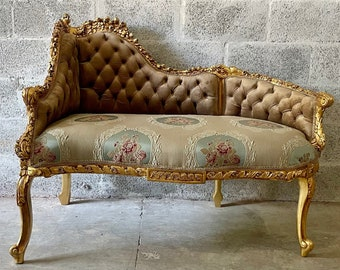 French Tufted Chair French Tufted Settee Vintage Furniture Baroque Furniture Rococo Interior Design Vintage Chair