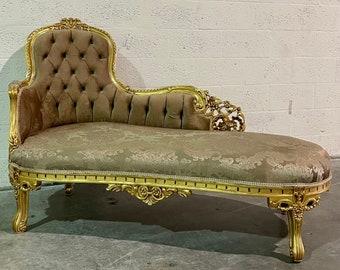 Vintage Chaise Lounge Furniture Sofa Gold Settee French Chaise Lounge Baroque Furniture Rococo Interior Design