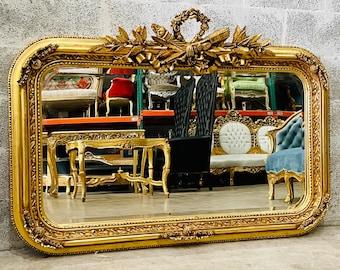 French Mirror Rectangular Mirror Baroque Mirror Rococo French Mirror Louis XVI Interior Design