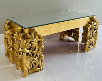 Contemporary Table Coffee Table Heavy Carving Baroque Style Furniture Vintage Table *in Stock* Interior Design