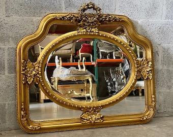 French Mirror *1 Available* Square Baroque Mirror Rococo Antique Mirror Gold Leaf Furniture Interior Design Furniture Vintage Mirror