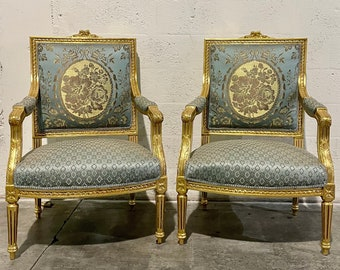 French Chair Vintage Furniture French Settee *5 Piece Available* French Vintage Chair Rococo Furniture Baroque Interior Design