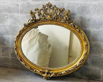 French Mirror *1 Available*  Baroque Mirror Rococo Mirror Antique Mirror Gold Leaf Antique Furniture Interior Design