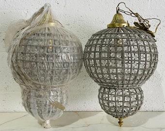 """French Basket Birdcage 20""""H Bowl Basket Garland Interior Design Vintage Lighting French Empire Chandelier Vintage Furniture"""