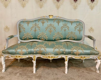 Vintage Chair French Chair Vintage Furniture Settee Interior Designer *5 Piece Available Baroque Furniture Rococo Vintage Sofa French Settee